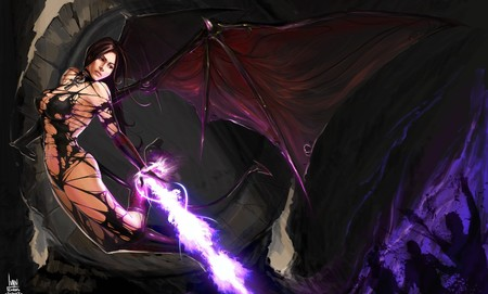 Bat Fairy - fantasy, bat, fairy, warrior