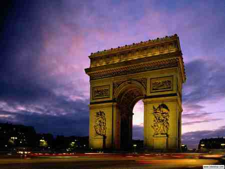 arc de triomphe at night other architecture background