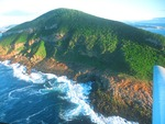 CPT Plettenberg Bay Robberg Peninsula Nature and Marine Reserve from aircraft