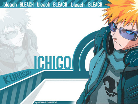 Ichigo Blue Background - bleach, anime, background, ichigo, kurosaki, rukia, blue