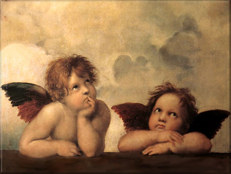 Cupid angels - valentines, heaven, cupid, heart, angel, love