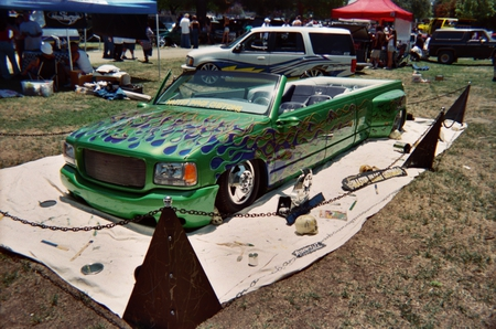 CHEVY DUALLY CONVERTIBLE - chevy, clean, dually, green