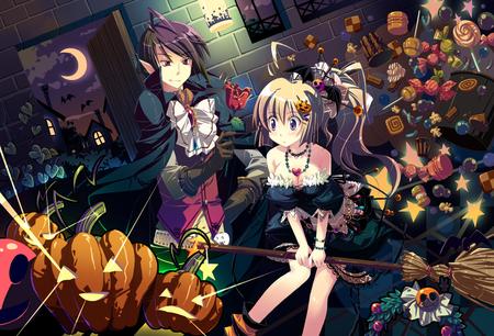 Anime Halloween Other Anime Background Wallpapers On Desktop Nexus Image 590672