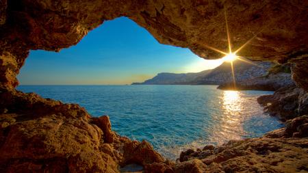 Cote Dazur Monaco Sunsets Nature Background Wallpapers