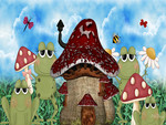Frogs Mushroom House