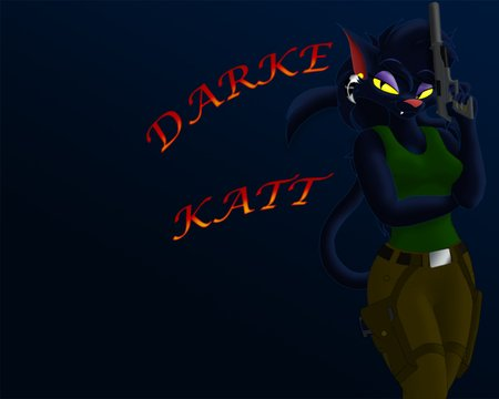 Darke Katt - gun, furry, katt, darke
