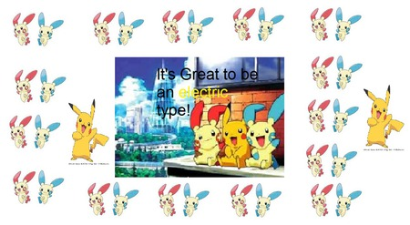 Electric buddies! - cute, trio, frame, electric, pokemon, minun, pikachu, plusle