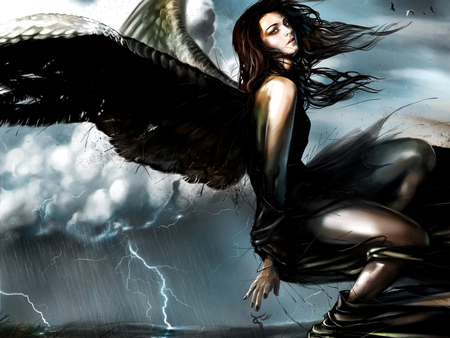Dark Angel 3d And Cg Abstract Background Wallpapers On Desktop