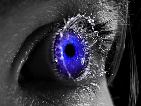 Blue Eye - exploding eye, beautiful, blue, eye