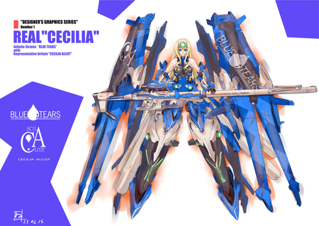 Celcilia Olcot - pretty, celcilia, robot, nice, gun, mecha, anime, celcilia olcot, aqua, beauty, anime girl, weapon, olcot, black, blonde, sexy, aqua eyes, cute, blue tears, cool, awesome, sniper, white, suit, infinite stratos, beautiful, britian, yellow hair, hot, blue eyes, blue, british, blonde hair, is, girl