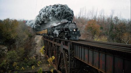 Train - photo, nature, train, bridge
