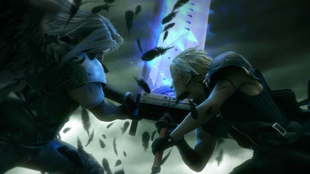 The Final Battle - ff7, ffvii, games, glow, action, final fantasy 7, video games, clash, anime, final fantasy, feathers, sephiroth, swords, fighting, cloud, final fantasy dissidia, advent children, final fantasy vii, cloud strife, armor, battle, dark, dissidia, fight, armour