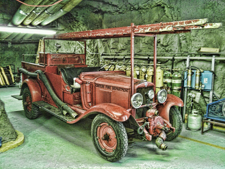 Old Fire Engine - fire, engine, old, rescue