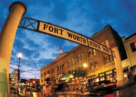 Fort Worth National Historic Stockyards - cowtown, city, fort worth, bulidings, historic