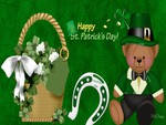 Saint Patricks Basket and Bear