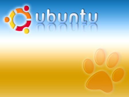 land-of-ubuntu - gradient, paw print, ubuntu