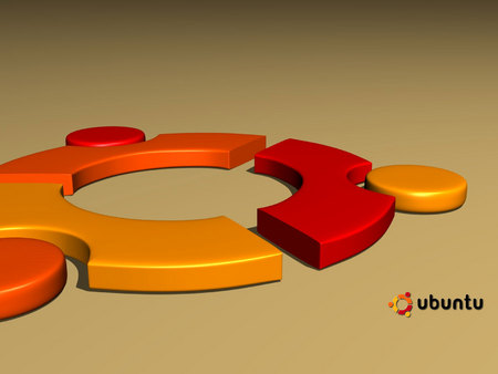 3D Ubuntu Wallpaper - circle, mikro, cog, flat, wallpaper, ubuntu