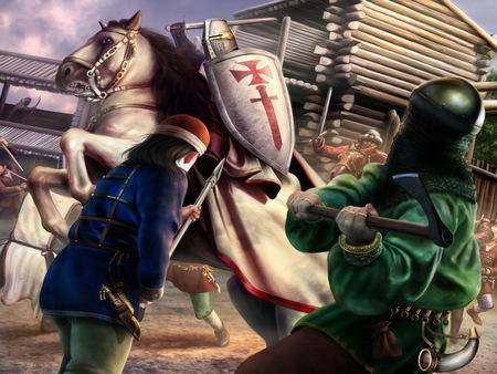 Templar - fantasy, knight, battle, warriors, abstract, templar, wallpaper
