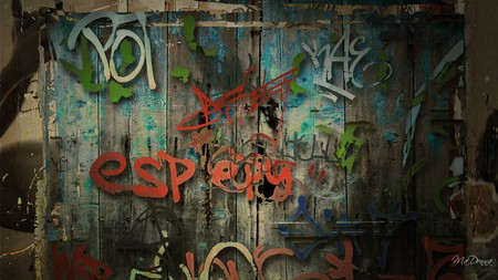 Graffiti Wall - graffiti, wall, paint, grungy, persona, vintage, dark, grunge