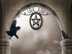 Pentagram Above Door
