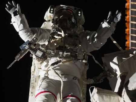 Astronaut at Work - iss, astronaut, space, nasa