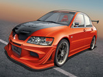 Mitsubishi Evo BlackRed