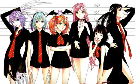 Rosario Vampire Girls Other Anime Background Wallpapers On
