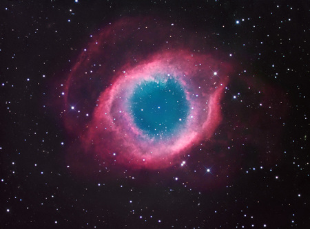 The helix nebula - stars, nebula, space, journey, home