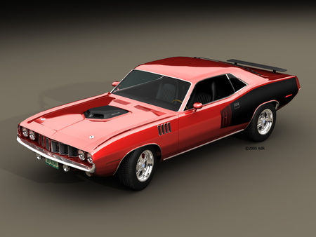 COME TO MOMMA - red, plymouth, muscle, 1970, hemi, hot, beauty, classic, barracuda
