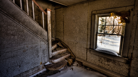 Haunted Staircase - creepy, spooky, frighting, haunted house, scary, haunted, ghostly