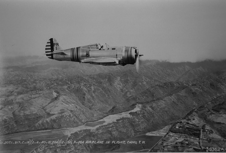 P-36 over Oahu - pursuit, army air corp, fighter, curtiss