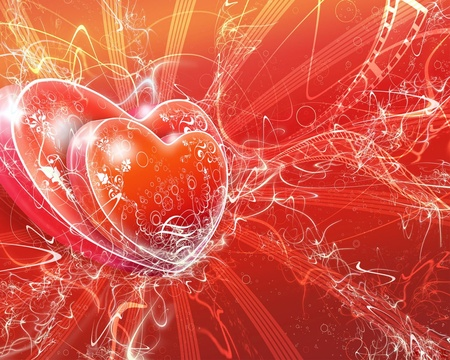 Hearts and vectors - 3d, glitter, love, heart, valentine, hearts, dilite