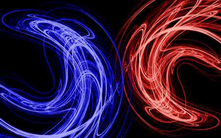 Blue And Red 3d And Cg Abstract Background Wallpapers On