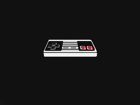 Nintendo on black feild - black, nintendo, controler