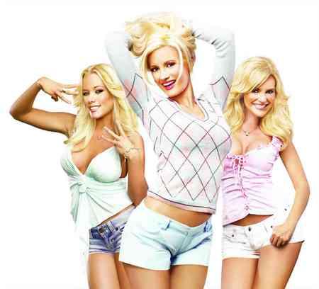Hot blond women Three Hot Blondes Models Female People Background Wallpapers On Desktop Nexus Image 610318