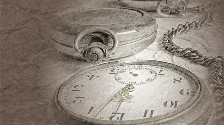 Antique Pocket Watch - gray, watch, clock, chain, vintage, time, antique, timepiece, silver
