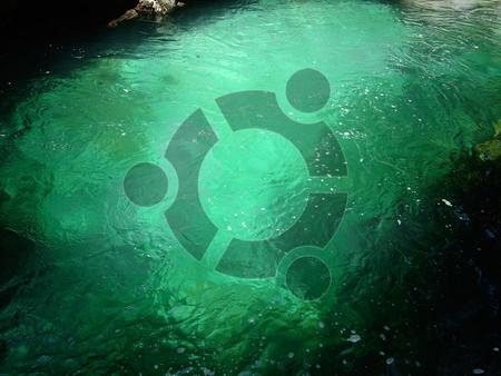 Ubuntu water - linux, water, green, ubuntu