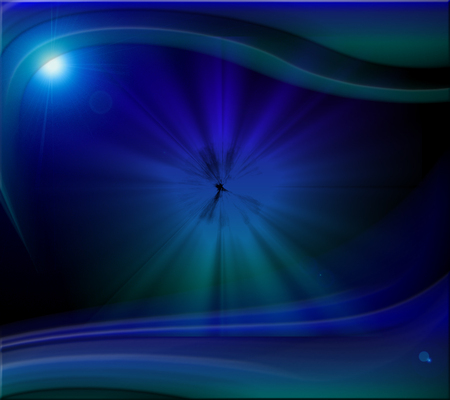 Blue Abstract - pattern, lens flare, abstract, blue, light
