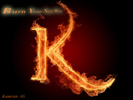 Burning Word K 3d And Cg Abstract Background Wallpapers On