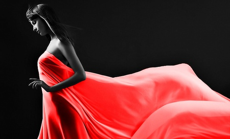 Red Dress Models Female People Background Wallpapers On Desktop