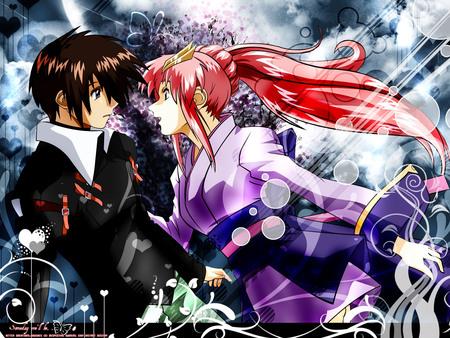 lacus clyne and kira yamato