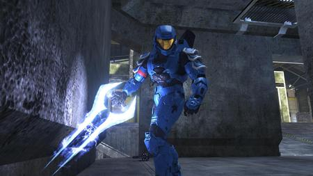 Halo - blue, game, halo, weapon, video