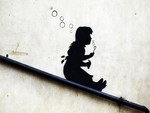 Banksy Bubble Girl