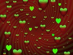 Green & Red hearts