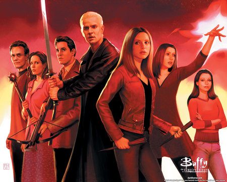 Buffy the Vampire Slayer - willow, giles, buffy, spike, xander, slayer, vampire, anya