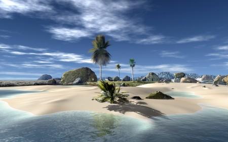 Beautiful little Island - beautiful, ocean, island, water, nature
