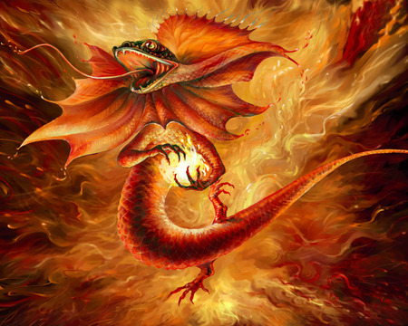 DRAGON - fire, fantasy, light, dragon