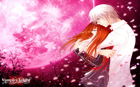Don't Be Cry - rose, vampire knight, kiriyuu, cherry blossom, yuki, kuran, moon, zero, cry