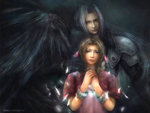 Aerith and Sephiroth