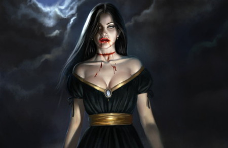 Vampire - fantasy, dark, vampire, horror, sexy, blood